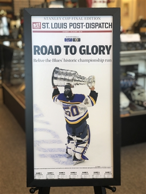 2019 NHL Stanley Cup Champions framed Newsprint, Road to Glory