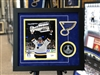 18x20 framed autographed Vladamir Tarasenko print  and puck authenticated by Fanatics