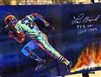 "20x40"" St Louis Cardinals Lou Brock / Steven Walden METAL print autographed by the artist & inscribed by Lou Brock"