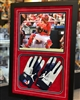 11x14  print and two autographed gloves of St Louis Cardinals Yadier Molina