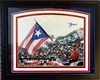 11x14 autograph print of St Louis Cardinals Yadier Molina with the Puerto Rican Flag at the World Classic