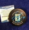St Louis Blues Sammy Blais autographed Official Banner Puck
