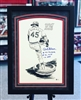 "11x17"" St Louis Cardinals Bob Gibson autographed Amadee print, matted & framed"