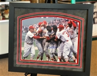 Bob Gibson 1967 celebration - 11x14 autographed, matted & framed print