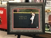 11x14 Jim Edmonds St Louis Cardinals autographed print double matted in suede and framed with black moulding