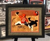 11x14 autograph St Louis Cardinals Jack Flaherty print, double mats, UV glass, black frame