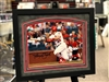 "Harrison Bader autographed  11x14"" print double matted in suede and framed with black moulding"