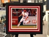 "St Louis Cardinals Harrison Bader autographed  11x14"" print double matted in suede and framed with black moulding"