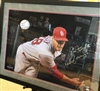 Autograph ST Louis Cardinals Joe Kelly breakthrough print, double mats, UV plexiglass, black frame