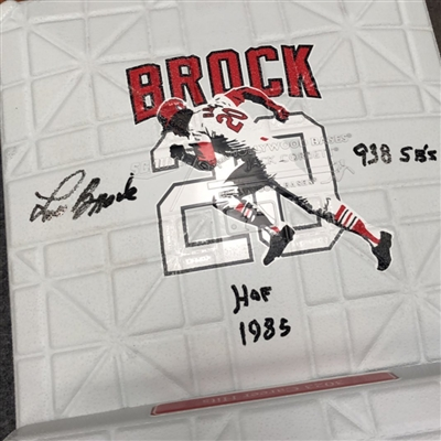 Lou Brock base with jewels Jack Corbett Hollywood base