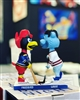 St Louis Cardinals Fredbird & St Louis Blues Louie Bobblehead