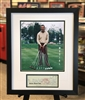 St Louis Cardinals Stan Musial 11x14 golf print with signed check, matted & framed