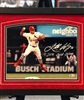 11x14 autograph ST Louis Cardinals Kolton Wong print, double mats, UV glass, black frame