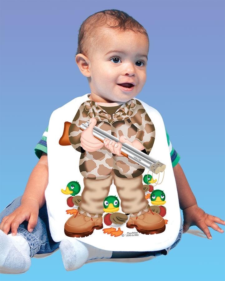 5556ee097f8a3 Duck Hunter Baby Bib, Duck Hunter Onesie 0-6 months 12 months 18 ...