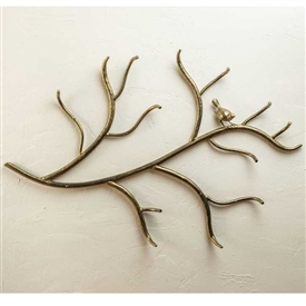 Pictured here is the Rustic Woodland Wrought Iron Wall Coat Rack with bird by Stone County Ironworks
