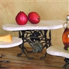 Pictured here is the Wrought Iron Tall Boulder Server by Bella Toscana