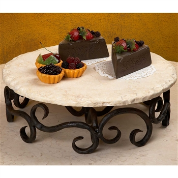 Wrought Iron Siena Lazy Susan by Bella Toscana