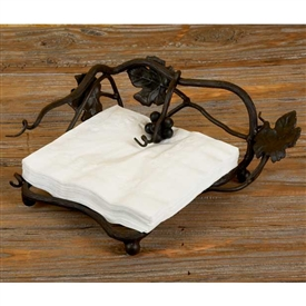 Pictured here is the Vineyard Outdoor Dinner Napkin Holder by Bella Toscana