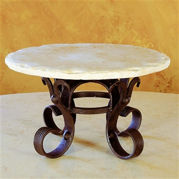 Wrought Iron Amalfi Raised Lazy Susan by Bella Toscana