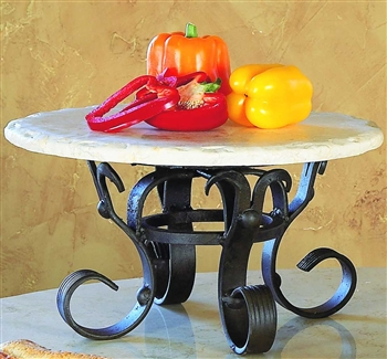 Pictured here is the Wrought Iron Siena Raised Lazy Susan by Bella Toscana