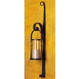 Pictured here is the Amalfi Hurricane Lantern Sconce by Bella Toscana