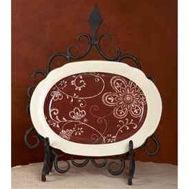 Wrought Iron Siena Plate Holder by Bella Toscana
