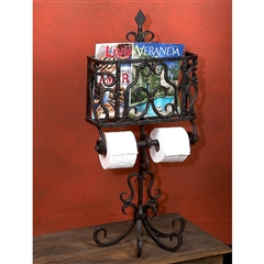 Wrought Iron Siena Bathroom Butler by Bella Toscana