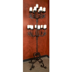 Wrought Iron Siena Floor Candelabra by Bella Toscana