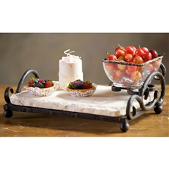 Wrought Iron Siena Single Bowl Server by Bella Toscana