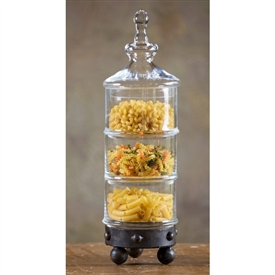 Wrought Iron Milan 3-Tier Canister by Bella Toscana