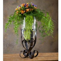 Wrought Iron Amalfi Grand Vase by Bella Toscana