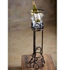 Pictured here is the Wrought Iron Siena Floor Wine Chiller by Bella Toscana