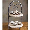 Siena 2 Tier Marble Server by Bella Toscana
