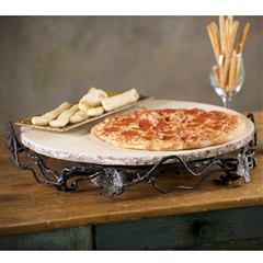 Wrought Iron Vineyard 20in Lazy Susan by Bella Toscana
