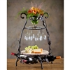 Pictured here is the Wrought Iron Wine and Cheese Party Server by Bella Toscana