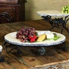 Pictured here is the Vineyard Oval Marble Server by Bella Toscana