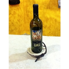 Wrought Iron Fruitwood Wine Coaster by Bella Toscana
