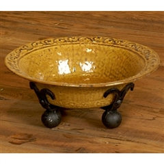 Wrought Iron Villa Large Serving Bowl by Bella Toscana