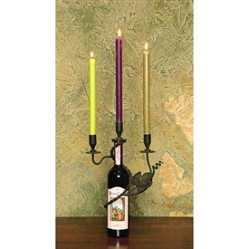 Wrought Iron 3-Vine Candleholder by Bella Toscana