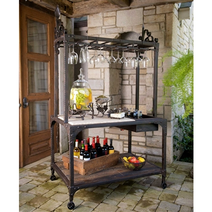 Pictured here is the Wrought Iron Tuscan Party Center- Brown by Bella Toscana