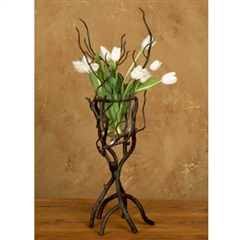 Wrought Iron Twig Small Vase by Bella Toscana
