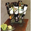 Pictured here is the Wrought Iron Wine Lazy Susan - 9 bottle by Bella Toscana