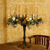 Wrought Iron Grand 6-Vase Candelabra by Bella Toscana