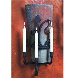 Pictured here is the Wrought Iron Siena Tile Sconce by Bella Toscana