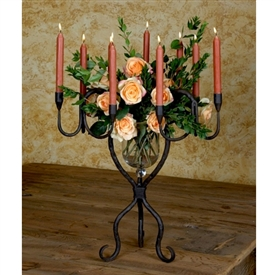 Wrought Iron Siena 9-Candelabra Vase by Bella Toscana