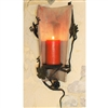Pictured here is the Wrought Iron Tile Sconce by Bella Toscana