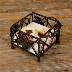 Wrought Iron Luncheon Square Napkin Holder by Bella Toscana