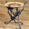 Pictured here is the Wrought Iron Vineyard 8in Raised Plate Server by Bella Toscana