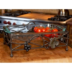 Wrought Iron Vineyard Server 9x13x5 by Bella Toscana