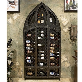 Pictured here is the Wrought Iron Wine Rack - 42 Bottle